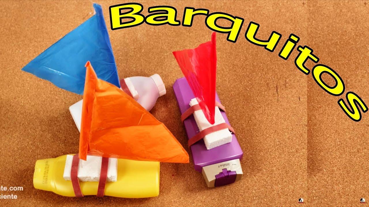 Con Para Juguete Manualidades De Niños Barquitos Material Reciclable dBCWrxoe