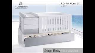 """kurve"" Convertible Crib - Alondra"