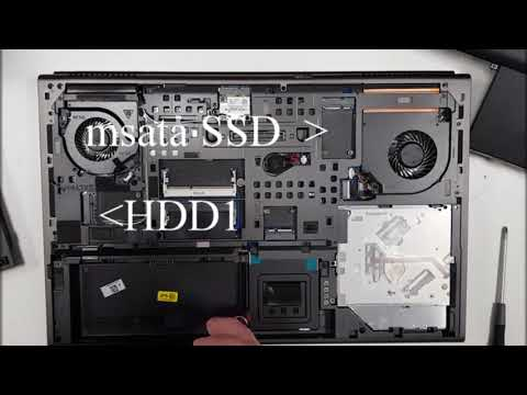 Dell M6800 Disassembly To Upgrade To SSD Or Msata