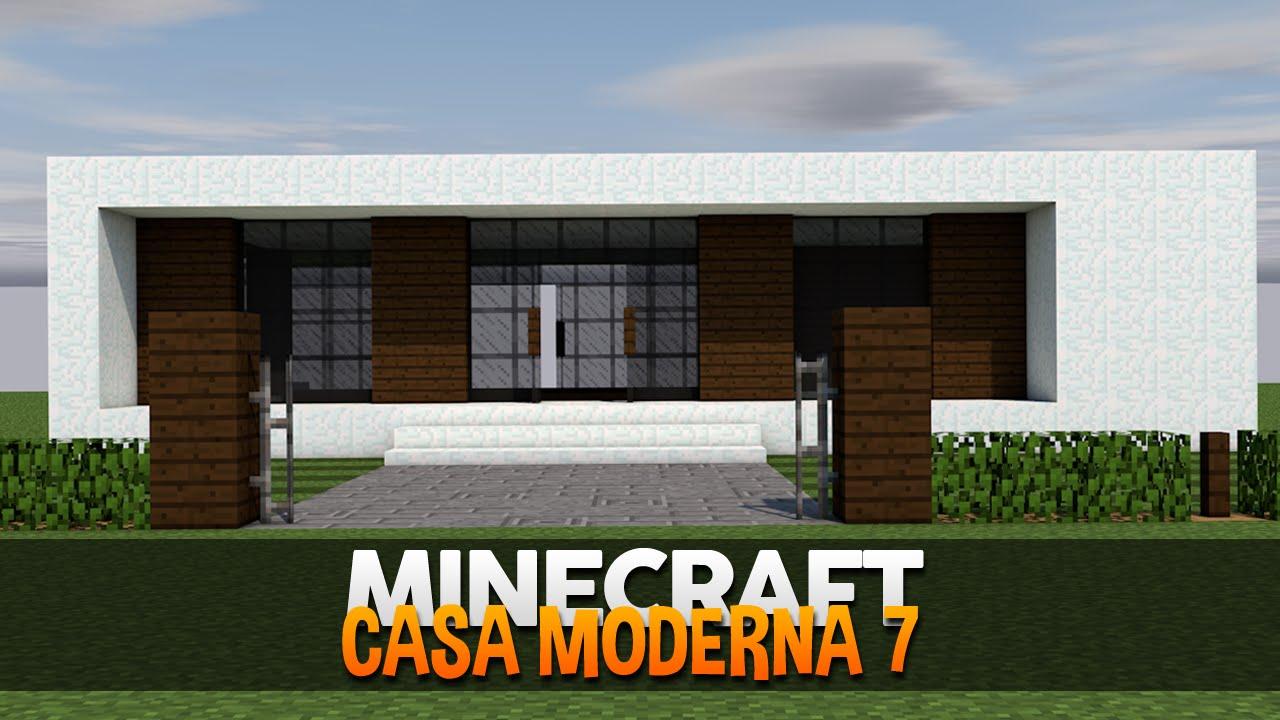 Minecraft construindo uma casa moderna 7 minimalista for Casa moderna orari