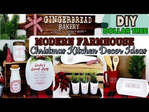 Dollar Tree DIY   Farmhouse Christmas Kitchen Decor   Christmas Home Decor Ideas 2019
