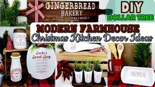 Dollar Tree DIY | Farmhouse Christmas Kitchen Decor | Christmas Home Decor Ideas 2019