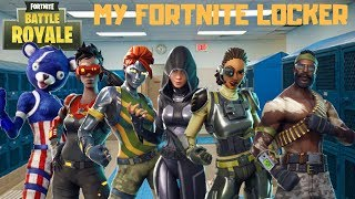 HOW MUCH DOES MY LOCKER COST? FORTNITE BATTLE ROAYLE SKIN COLLECTION