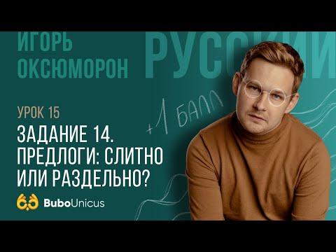 Задание 14 | ЕГЭ русский язык | Игорь Оксюморон