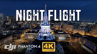 PHANTOM 4 PRO DRONE Low Light NIGHT Test Footage [4K]