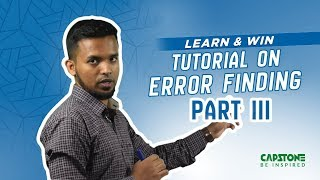 Error Detection Short-Cut: Part-3