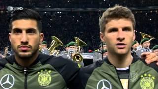 Nationalhymnen Fußball Testspiel Deutschland-England 26.03.2016 - Gruß von Matthias