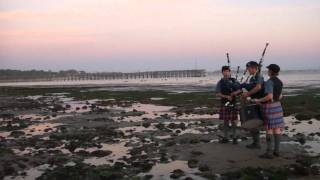 AMAZING 100 YEAR OLD PEGGY! Scottish Bagpipe Memorial~PART 5~ Ventura California Surfers Point