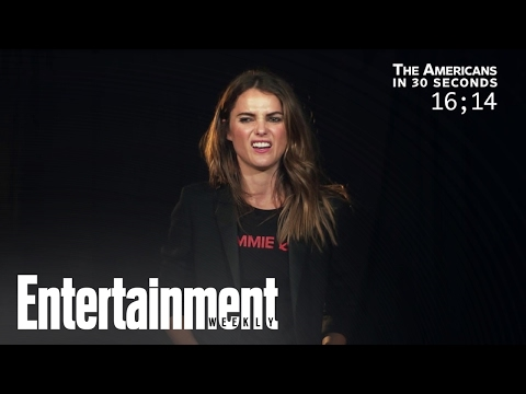 Keri Russell recaps 'The Americans' in 30 seconds