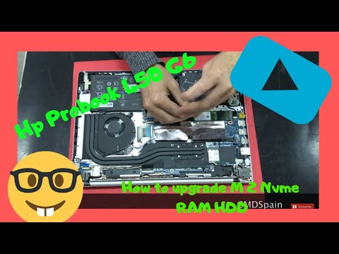Hp Probook 450 G6 How To Upgrade M2 Nvme RAM HDD Disassembly