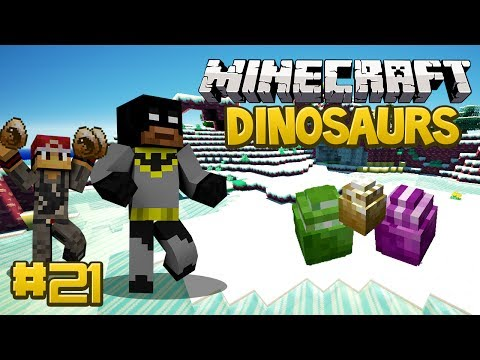 Minecraft Dinosaurs Mod (Fossils and Archaeology) Series, Episode 21 - So Many Dinosaur Eggs!