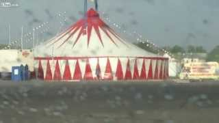 Circus Tent Blown Away In Strong Winds