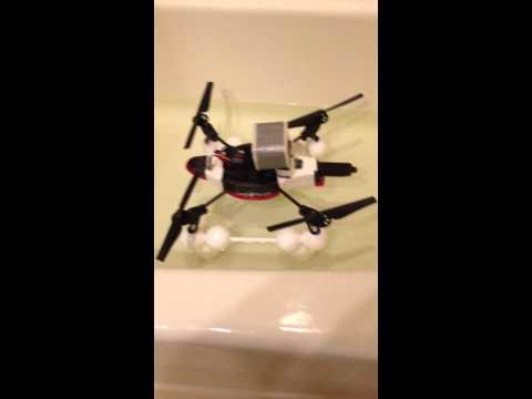 AR Drone $5 Pontoon Float Test