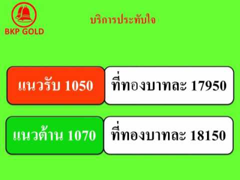 บทวิเคราะห์ราคาทองคำภาคเช้า ประจำวันที่ 4 ธันวาคม 2558 โดยห้างทองบุญครองพร