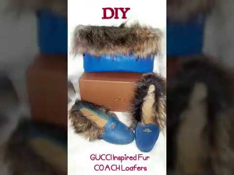DIY Gucci Inspired Princetown Fur Loafers 👜👠