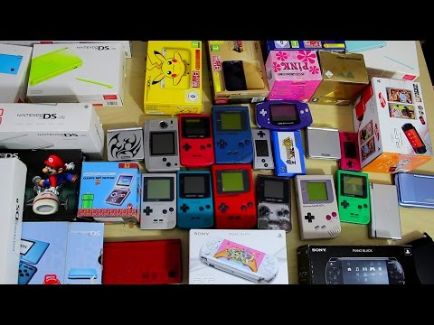 Ma collection de 34 CONSOLES portables