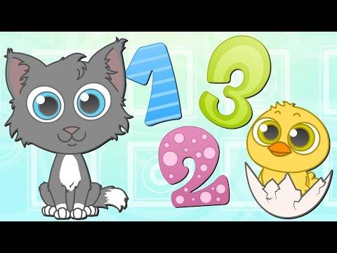 🌟 LOS NÚMEROS Y ANIMALES 🌟 Canciones Infantiles | Dibujos Animados
