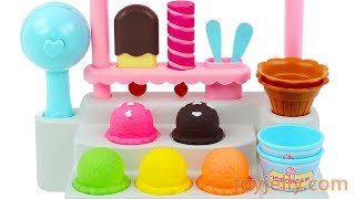Ice Cream Cones and Popsicles Stand Playset for Kids Kinder Surprise Eggs Baby Toys for Children