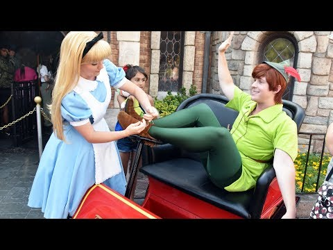 Disneyland Morning Character Fun w/Peter Pan, Alice, Mad Hatter, Hook, Belle, Beast, Gideon