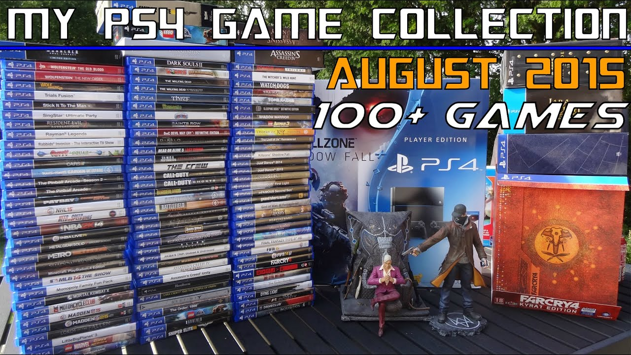 my ps4 game collection august 2015 100 physical. Black Bedroom Furniture Sets. Home Design Ideas