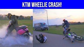 THUNDERZIP VS SUZUKI GSX-R + KTM CRASHT