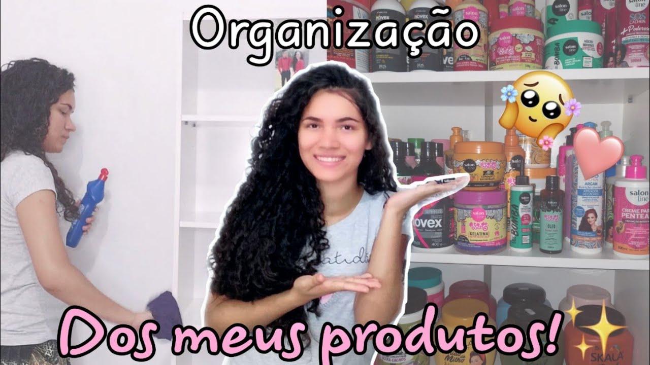 FAXINA+ORGANIZAÇÃO DE TODOS MEUS PRODUTOS  DE CABELO! 💕
