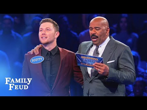 BOOYAH! Scotty McCreery & Gabi Dugal's BIG Fast Money! | Celebrity Family Feud