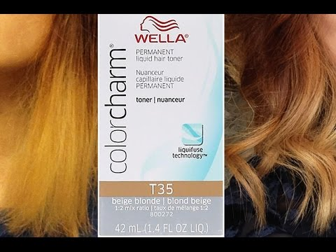 WELLA Toner on Bleached Hair (with ptos) - YouTube