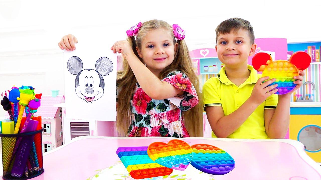 Диана и Рома играют в Поп ит Челлендж Pop It Challenge for kids
