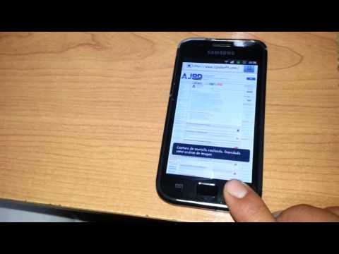 Captura pantalla screenshot Samsung Galaxy S Plus