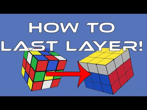 How To Solve A 3x3x3 Rubik's Cube: Easiest Tutorial (Last Layer)
