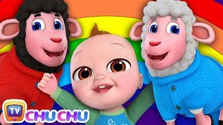 *New* Baa Baa Black Sheep Song - Colors of the Rainbow - ChuChu TV Nursery Rhymes