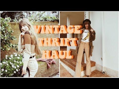 MY BEST VINTAGE THRIFT HAUL || freyahaley