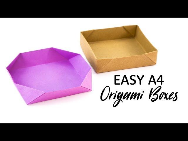 Easy Origami Box Tutorial - DIY Boxes - Paper Kawaii