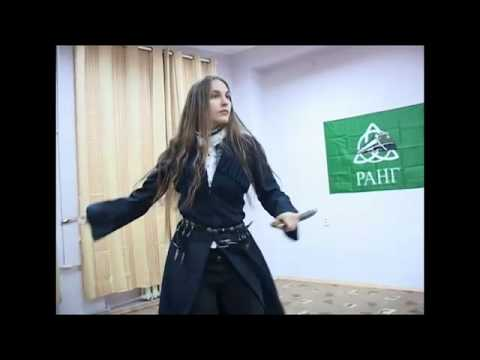 Russian Girl Dances with Swords