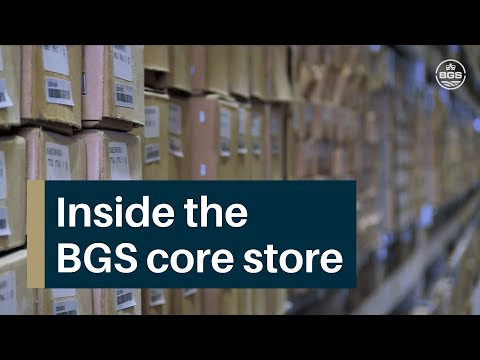 Inside the British Geological Survey's Core Store