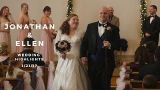 Jonathan and Ellen Wedding Highlights - Pennsylvania Winter Wedding