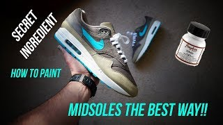 How to paint a midsole without it