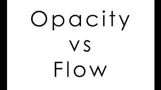 Разница между opacity и flow. Урок фотошопа. Фотошоп для начинающих. Видеоуроки Pro Photoshop