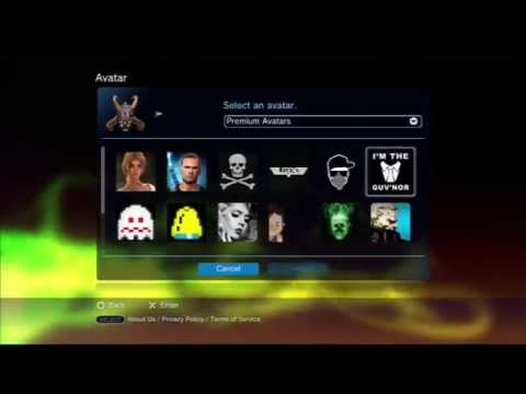 how to get premium avatars on ps3