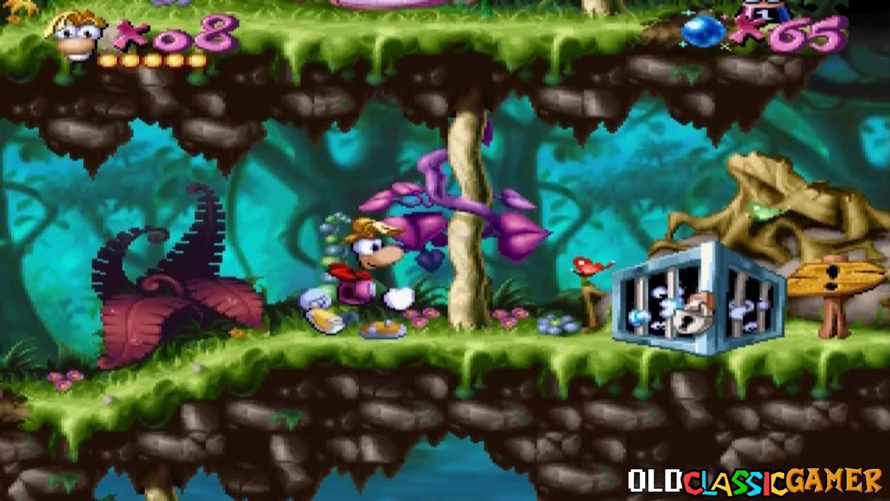 Rayman 1 On Sega Saturn Emulator - Made To Work By OCG