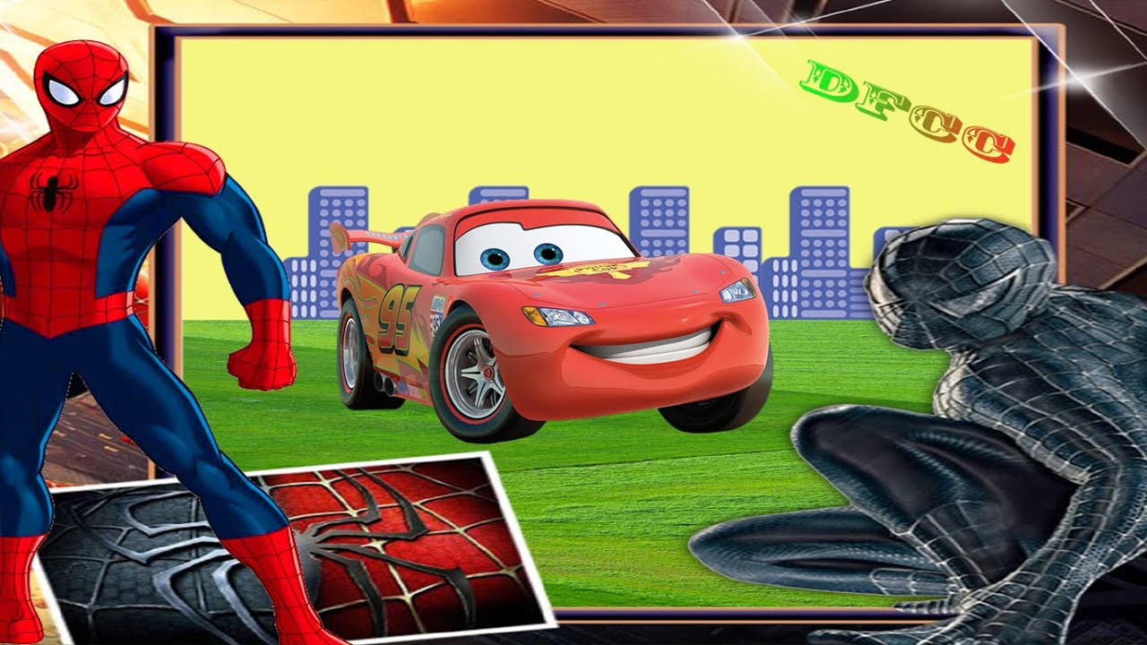 spiderman lightning mcqueen u0026 disney pixar cars coloring pages