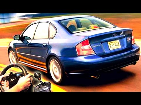 How to drive Legally - City Car Driving, Subaru Legacy B4 GT 2005. Full HD 2015