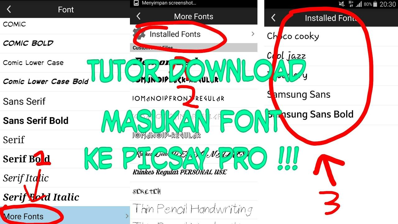 Cara Download Dan Memasukan Font Ke Picsay Pro How To Download And