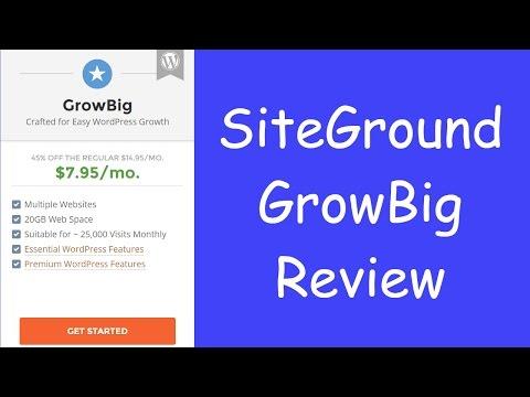 SiteGround GrowBig Review (WordPress Hosting)