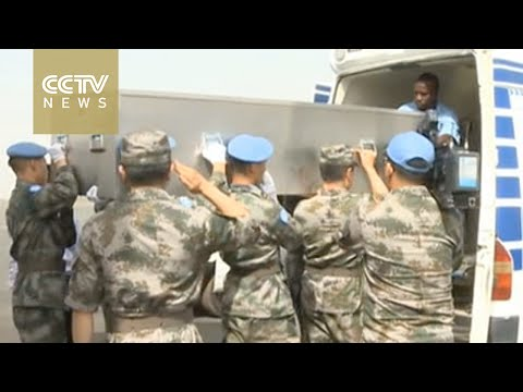 Body of Chinese UN peacekeeper arrives in Bamako