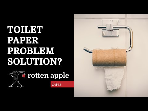 Toilet Paper Problem Solution? (Bum Wash Skit)