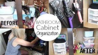 Bathroom Cabinet Organization|Organizing your Home| Organization Hacks