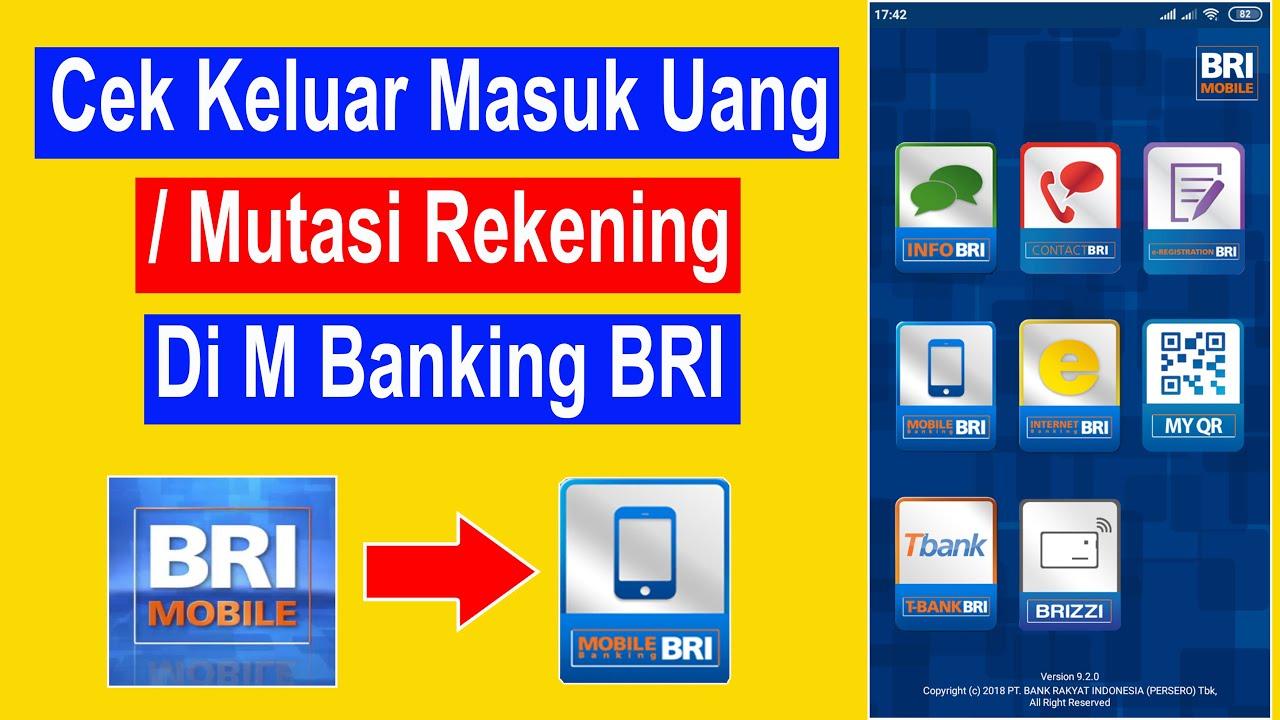 cara cek mutasi bri lewat mobile banking