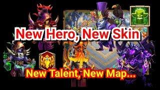 Castle Clash Update Tướng Mới, Skin mới, Talent Mới, Map Mới Cực Đẹp Tháng 7/2019